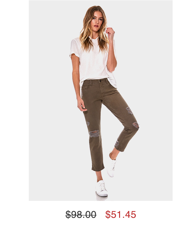 Dark Olive Girlfriend Jeans $51.45