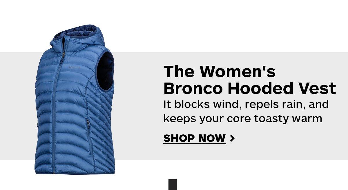 The Women's Bronco Hooded Vest - Shop Now