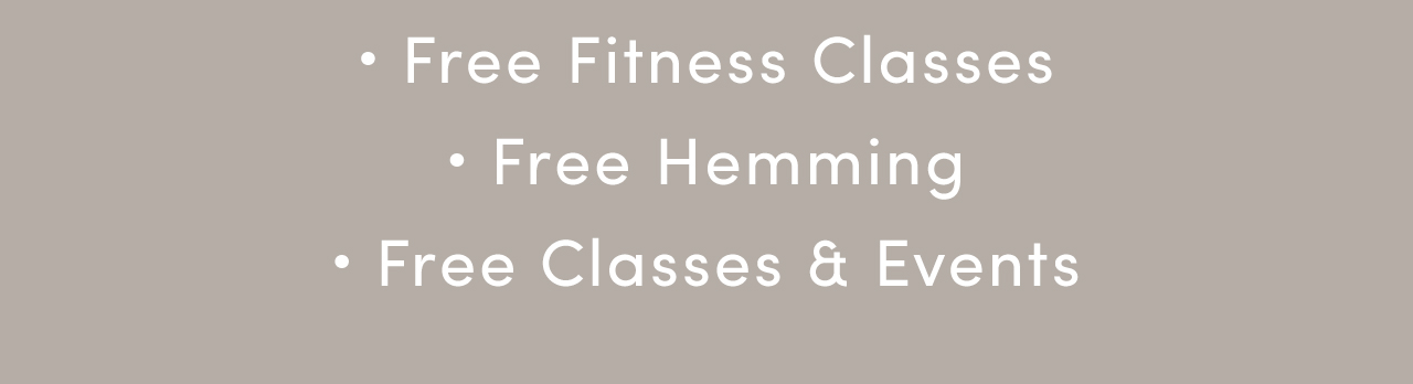 Free Fitness Classes | Free Hemming | Free Classes & Events