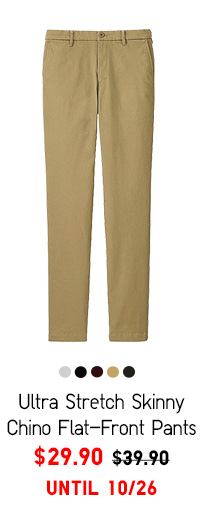 Men Ultra Stretch Skinny Chino Flat-Front Pants - $29.90 UNTIL 10/26
