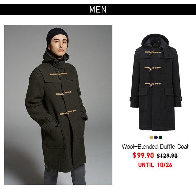 Men Wool Blended Duffle Coat - $99.90 UNTIL 10/19