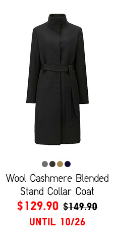 Women Wool Cashmere Blended Stand Collar Coat - $129.90 UNTIL 10/19