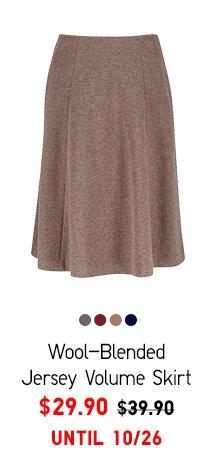 Women Wool-Blended Jersey Volume Skirt - $29.90 UNTIL 10/26