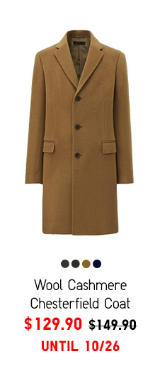 Men Wool Cashmere Chesterfield Coat- $129.90 UNTIL 10/19