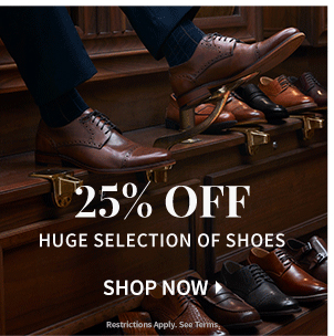 25% Off Huge Selection of Shoes Shop Now. Restrictions apply see terms