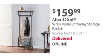 Wren metal storage rack