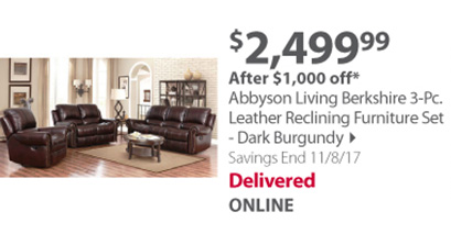 Abbyson living berkshire furniture set