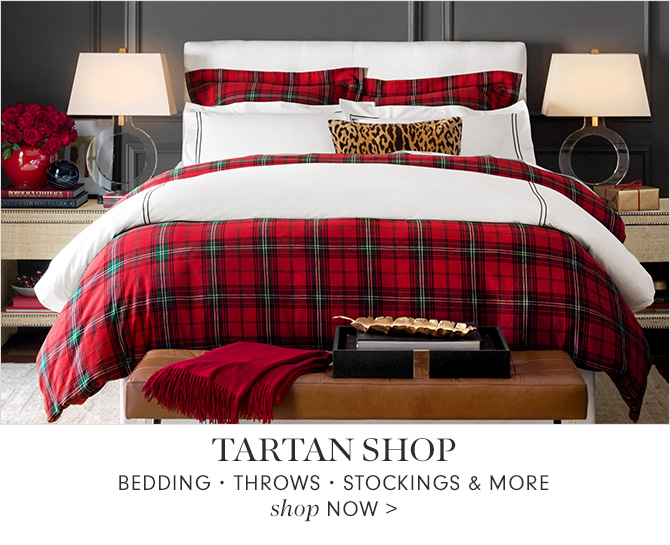 TARTAN SHOP - BEDDING • THROWS • STOCKINGS & MORE - shop NOW