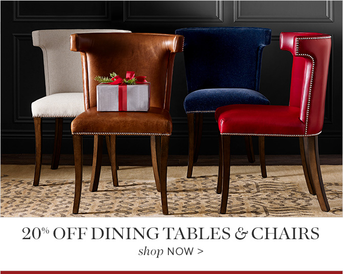 20% off Dining Tables & Chairs - shop NOW