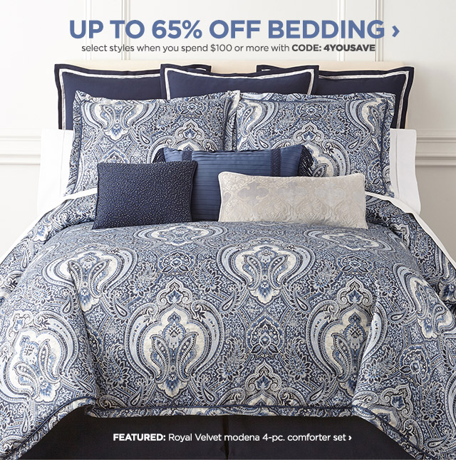 up to 65% off bedding