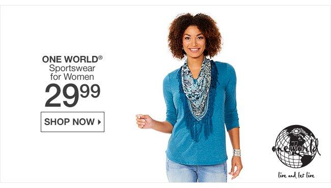 Shop 29.99 One World Sportswear for Women