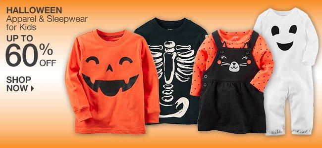 Up to 60% Off Halloween Apparel & Sleepwear for Kids