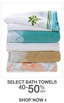 40-50% Off Select Bath Towels