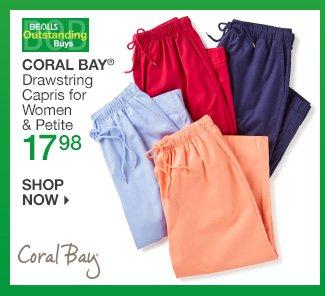 Shop 17.98 Coral Bay Capris