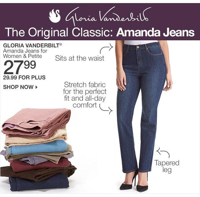 Shop 27.99-29.99 Gloria Vanderbilt Amanda Jeans