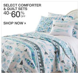 Shop 50-60% Off Select Comforter & Quilt Sets