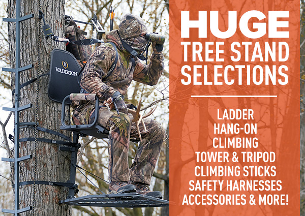 Huge Tree Stand Selections | Ladder, Hang-on, Climbing, Tower & Tripod, Climbing Sticks, Safety