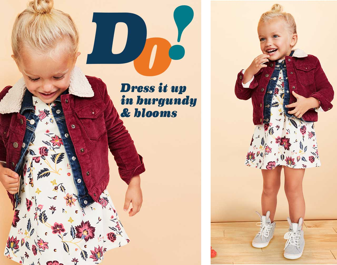 Do! Dress it up in burgundy & blooms
