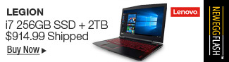 Newegg Flash - Lenovo Legion i7 256GB SSD + 2TB