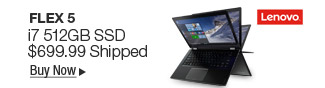 Newegg Flash - Lenovo Flex 5 i7 512GB SSD