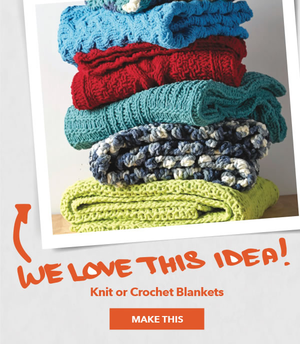 We Love This Idea! Knit or Crochet Blankets. MAKE THIS.