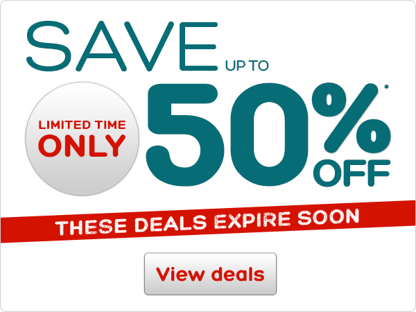 Limited time only! Save up to 50%*off. These deals expire soon