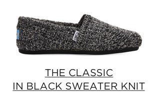 The Classic in Black Sweater Knit