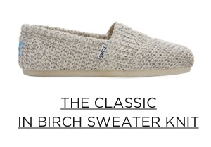 The Classic in Birch Sweater Knit