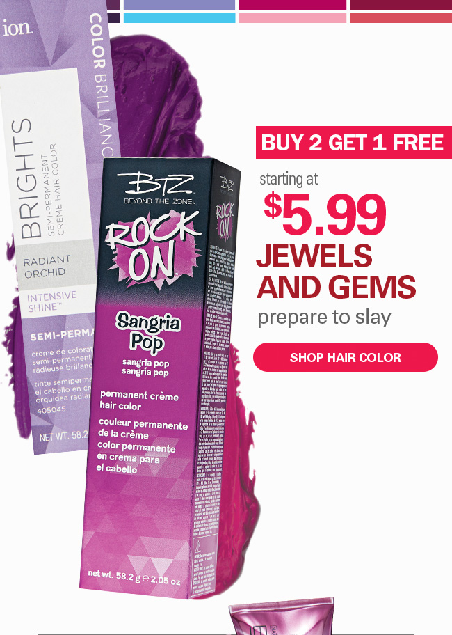 Buy 2 Get 1 Free Hair Color