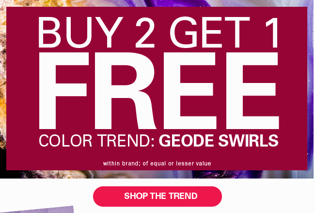 Buy 2 Get 1 Free Color Trend Geode Swirls