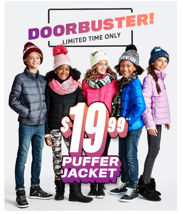 $19.99 Puffer Jacket Doorbuster