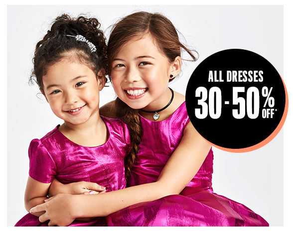 All Dresses 30-50% Off