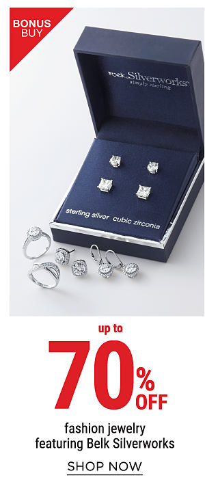 Bonus Buy - Up to 70% off fashion jewelry, featuring Belk Silverworks. Shop Now.
