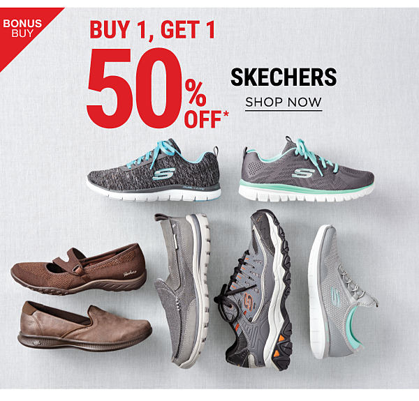 Bonus Buy - Buy 1, Get 1 50$ off Skechers. Shop Now.