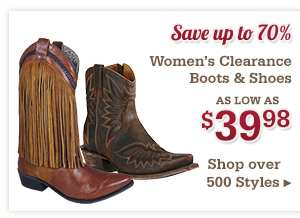 Womens Clearance Boots and Shoes