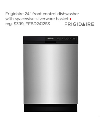 frigidaire font control dishwasher with spacewise silverware basket