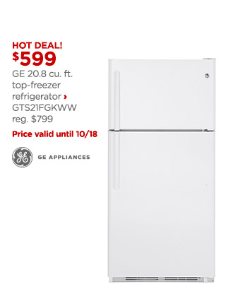 ge top freezer refrigerator