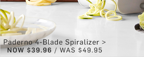 Paderno 4-Blade Spiralizer - NOW $39.96
