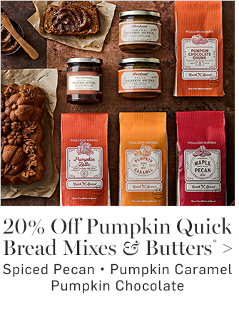 20% Off Pumpkin Quick Bread Mixes & Butters*