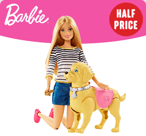 Barbie Doll Walk and Potty Pet Pup