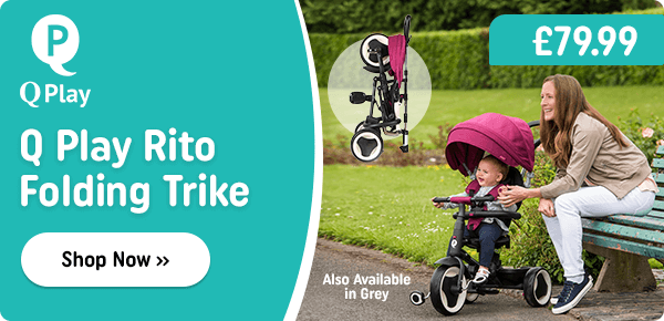 Q Play Rito Folding Trike Grey