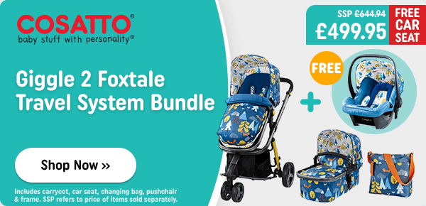 Cosatto Giggle 2 Fox Tale Travel System & Car Seat Bundlee