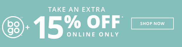 15% Off Your Total Purchase Online