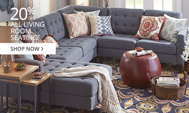 20% off all living room seating. Shop now.