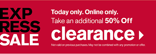 Get an additional 50% off clearance