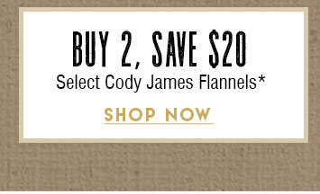 Buy 2 Save $20 Cody James Flannels »