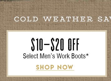 Up To $20 Off Men's Work Boots »