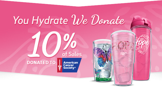You Hydrate, We Donate - 10% of Sales donated to American Cancer Society
