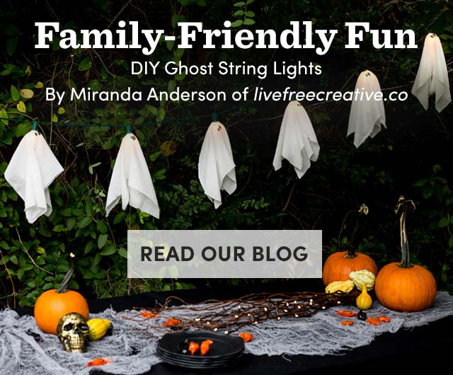 DIY Ghost String Lights. Read Our Blog ›