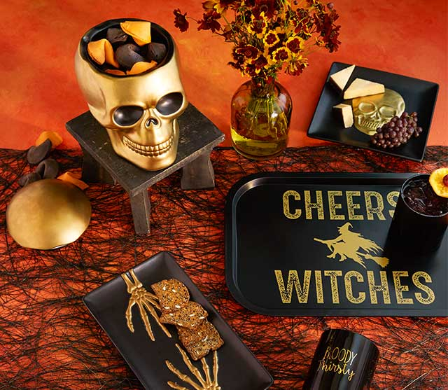 Save Up To 50% Select Black & Gold Halloween Entertaining Collection ›